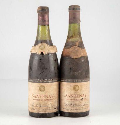 2 bouteilles SANTENAY 1969 Barriere Frères...