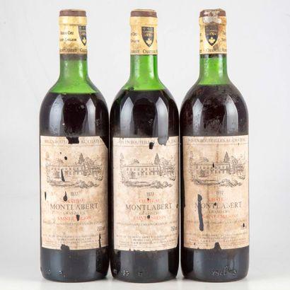 4 bouteilles CHATEAU MONTLABERT 1977 Saint...