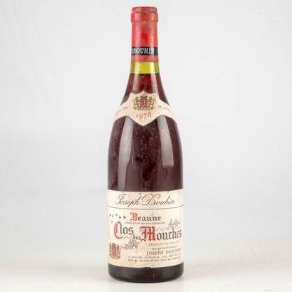 1 bouteille CLOS DES MOUCHES 1978 Beaune...