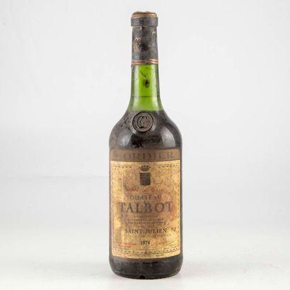 1 bouteille CHÂTEAU TALBOT 1974 Saint-Julien...
