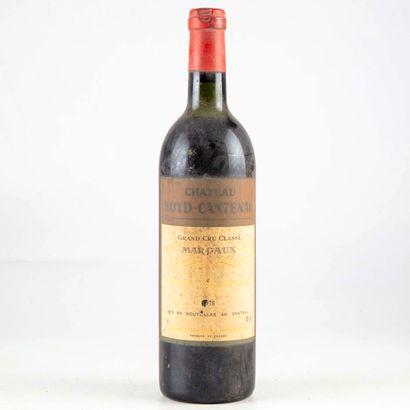 1 bouteille CHATEAU BOYD CANTENAC 1978 M...