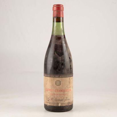 1 bouteille GEVREY-CHAMBERTIN 1955 ? Barrière...