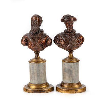 Paire de bustes représentant le Roi Henri...