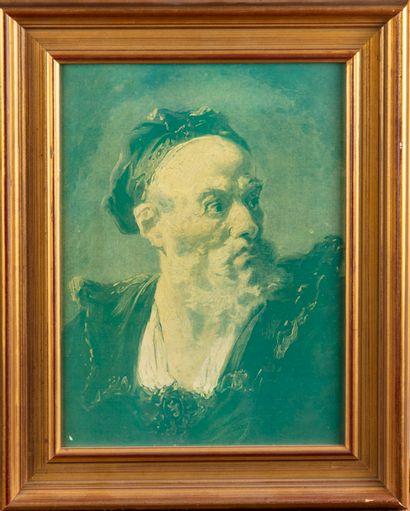 Portrait d'homme  Chromolithographie  27...