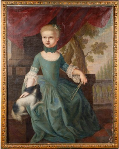 ECOLE ALLEMANDE du XVIIIe  Jeune fille et...