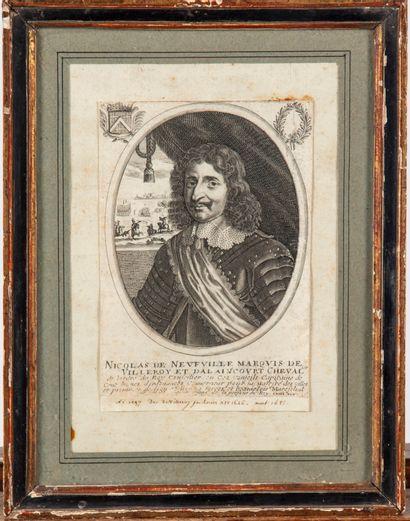 ECOLE FRANCAISE  Portait de Nicolas de Neufville...