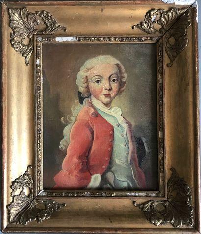 ECOLE FRANCAISE dans le style du XVIIIe  Portrait...
