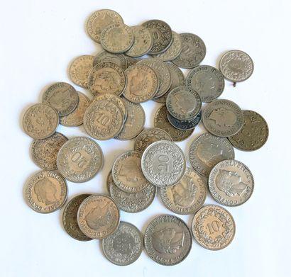 Ensemble de pièces de monnaie - SUISSE .......