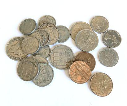 Ensemble de pièces de monnaie - FRANCE  Francs...