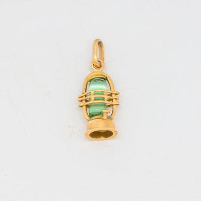 Pendentif en or en forme de petite lanterne...