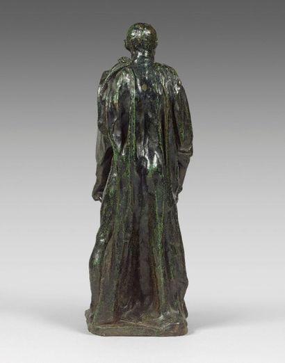 Auguste RODIN (1840-1917)  Jean d'Aire, réduction  Bronze à patine brun-vert nuancé,...