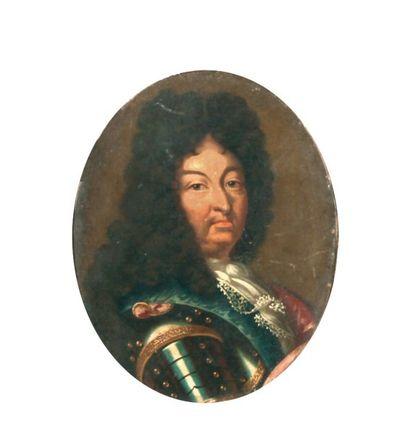 Ecole FRANCAISE vers 1700  Portrait de Louis...