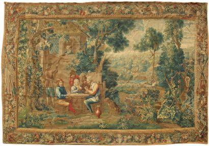 Importante tapisserie des Flandres à décor...