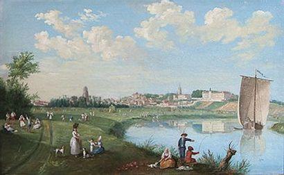 ECOLE FRANCAISE DU XVIIIème siècle,  Paire...