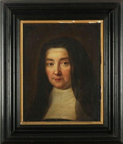 Ecole FRANCAISE vers 1720, autour de Jean Baptiste SANTERRE  Portrait d'une religieuse....