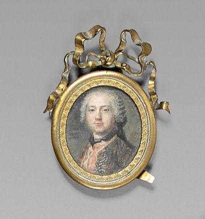 Ecole FRANCAISE vers 1740 Portrait d'homme...