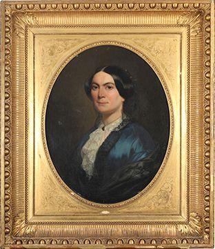 Charles LANDELLE (Laval 1812 - 1908),  Portrait...