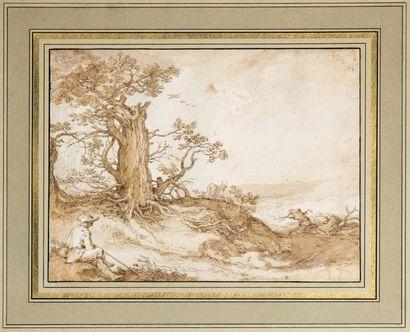 Abraham BLOEMAERT (1564-1651)  Abraham BLOEMAERT (1564-1651)  Berger dans la campagne...