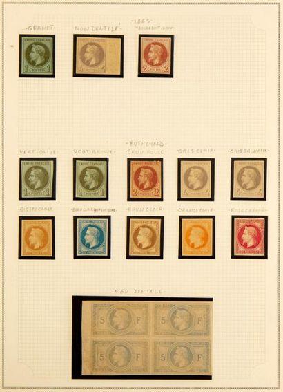 FRANCE Collection présentée en un album, période 1849-1872 Exceptionnel ensemble...