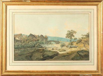 Gustav von WOCHER (1779-1858) Paysage de...