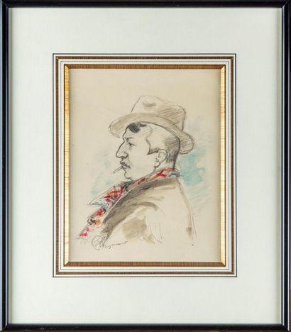 André DIGNIMONT (1891 - 1965) Portrait d'homme...