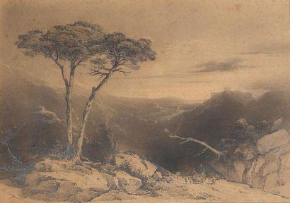 Jules Louis COIGNET (1798- 1860) Bergers...