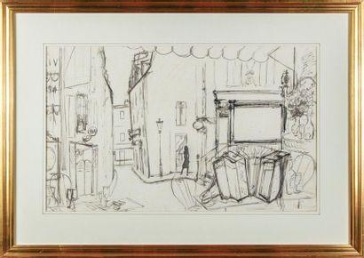André DIGNIMONT (1891-1965) Rue de Paris...