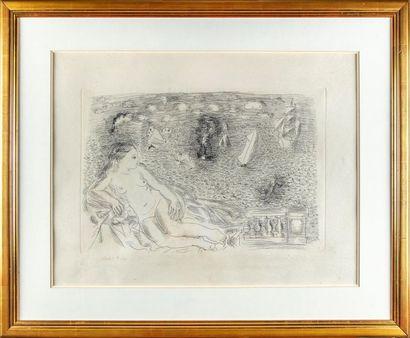 Raoul DUFY (1877-1958) Nu couché devant la...