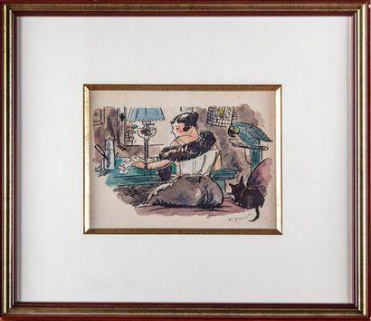 André DIGNIMONT (1891-1965) La réussite (femme...