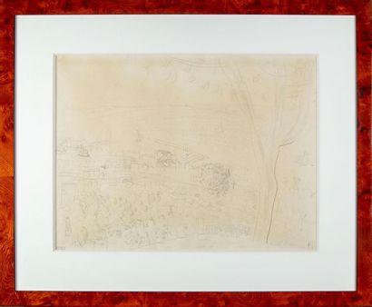 Raoul DUFY (1877-1958) Paysage de bord de...
