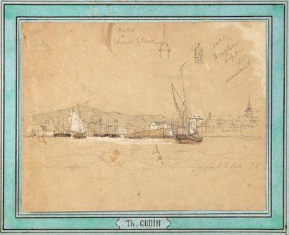 Théodore GUDIN (1802-1880) attribué à Bateau...