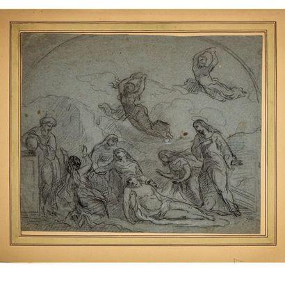 ÉCOLE FRANCAISE du XIXe La Déposition - projet...