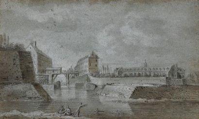 ÉCOLE FRANCAISE du début du XIXe Moulin de...