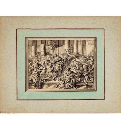 ÉCOLE FRANCAISE du XVIIIe Scène de la vie...