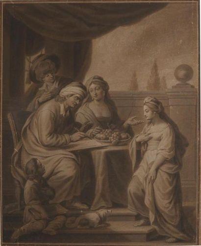 ÉCOLE FLAMANDE du XVIIe Le portrait de la...