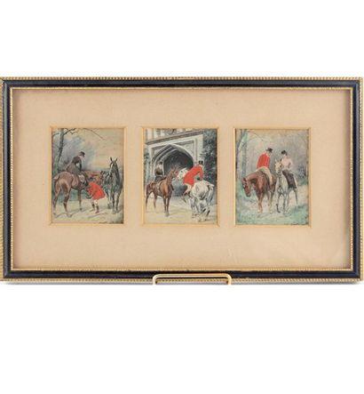 Georges WRIGHT (1860-1942) Scènes de chasse...
