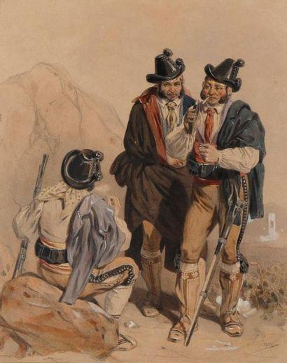 Adolphe Jean Baptiste BAYOT (1810-1871) Bandits...