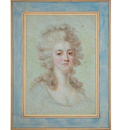 ÉCOLE FRANCAISE du XVIIIe Portait de jeune...