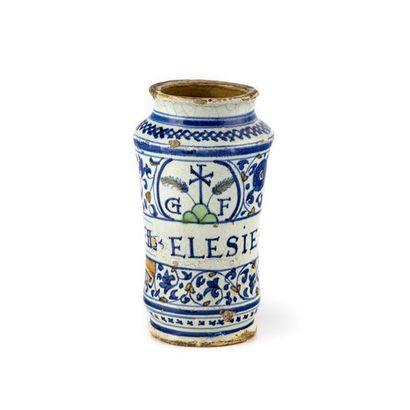 Italie Albarello cylindrique légèrement cintré...