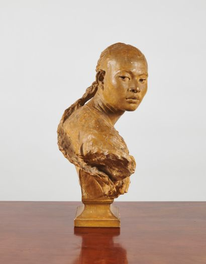 Jean-Baptiste Carpeaux (1827-1875)  Le Chinois (esquisse)  Modèle créé en 1868  Terre...