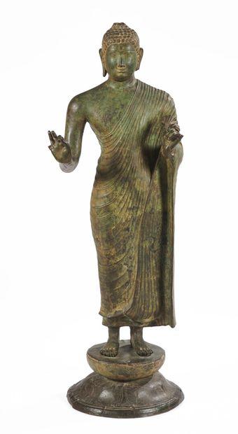 THAILANDE - Vers 1900  Bouddha en bronze...