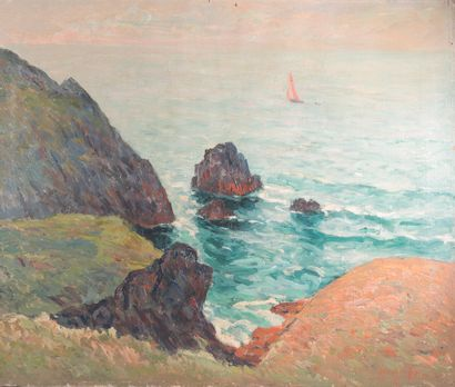 Maxime MAUFRA (1861 1918)  Brittany, calm...