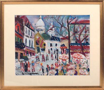 MODERN SCHOOL  Montmartre, the Place du Tertre...