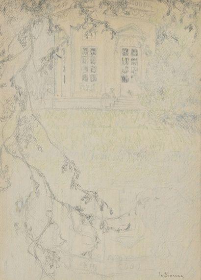 Henri LE SIDANER (1862-1939)  The music pavilion...