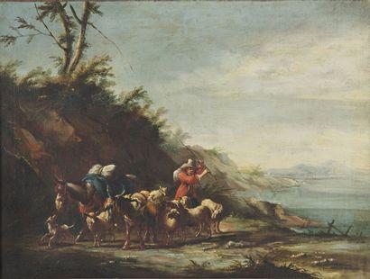 18th century FRENCH SCHOOL  Shepherd and...