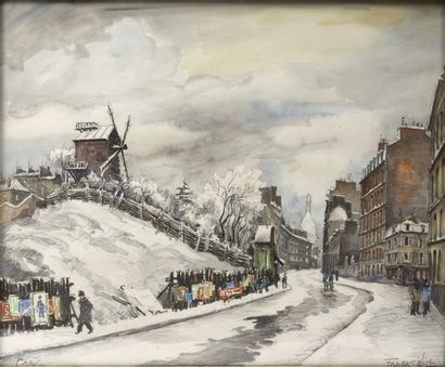 Frank WILL (1900-1951)  Montmartre, The Moulin...