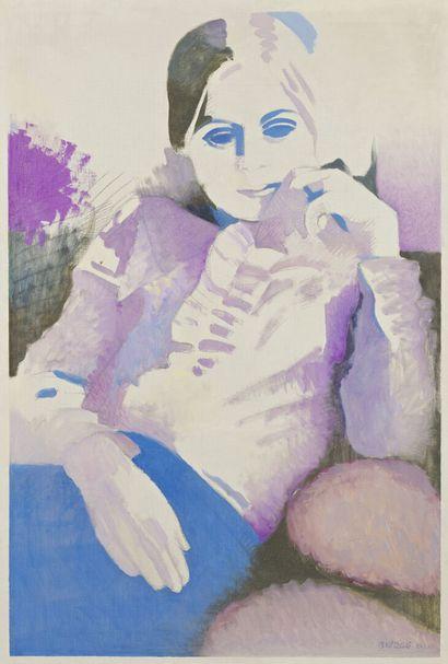 Roland BIERGE (1922-1991)  The blue eyes,...