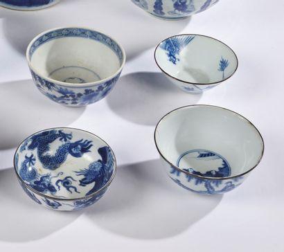 CHINE POUR LE VIETNAM  Trois bols en porcelaine...