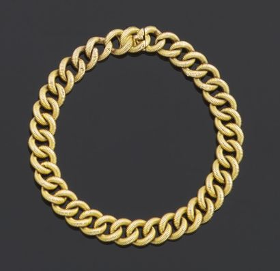 BRACELET articulated in yellow gold 750 thousandths,...