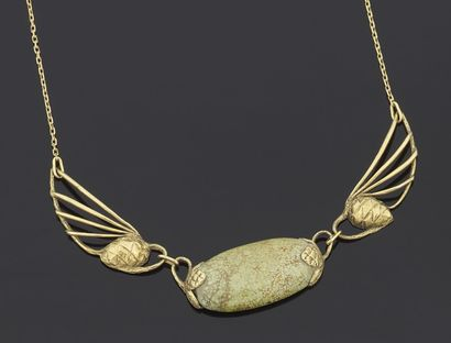 NECKLACE articulated in yellow gold 750 thousandths...